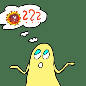 Der kleine Geist und der Corona Virus